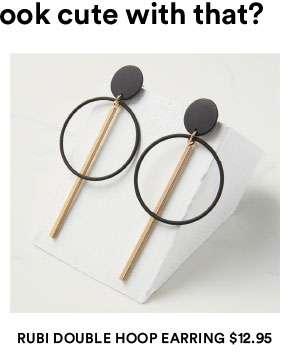 Rubi double hoop earrings | Shop Now