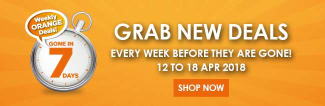 Weekly Orange Deals from 12-18 Apr 2018!