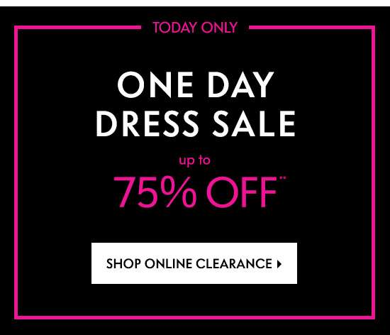 One Day Dress Sale