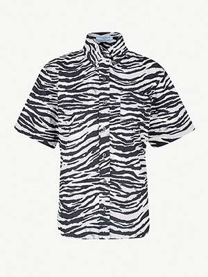 PRADA                                                          Tiger-print cotton shirt