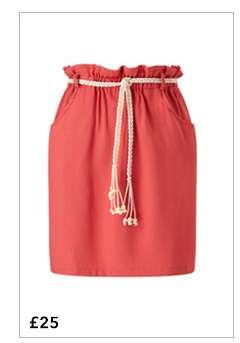 Rust Paper Bag Skirt