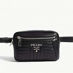 PRADA                                                          Small leather belt bag
