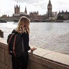 Admiring Big Ben from afar with @goodeyemoody and her Retreat Backpack. What's your favorite London landmark? #WellTravelled