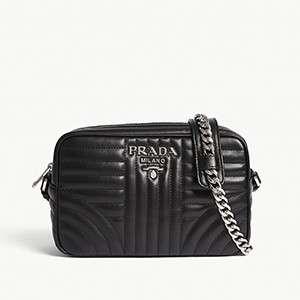 PRADA                                                          Quilted camera bag