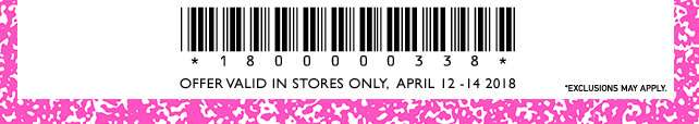 Redeem this code in-store!
