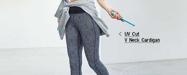 Women's UV Cut V Neck Cardigan