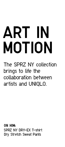 Art in Motion | The SPRZ NY collection brings to life the collaboration between artists and UNIQLO