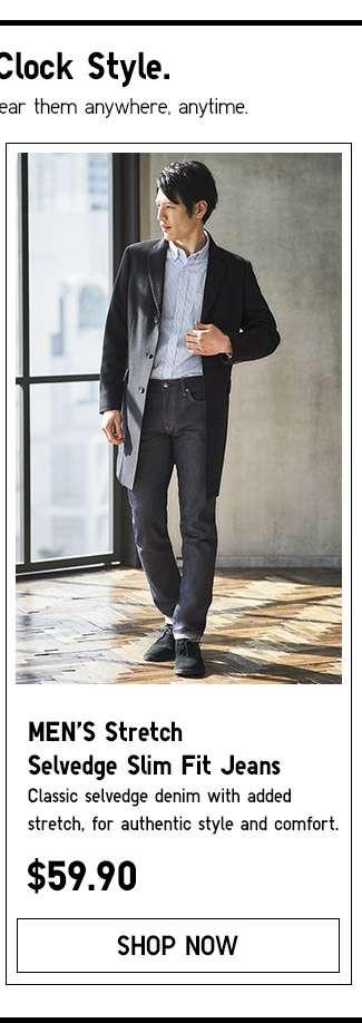 Shop Men's Stretch Selvedge Slim Fit Jeans