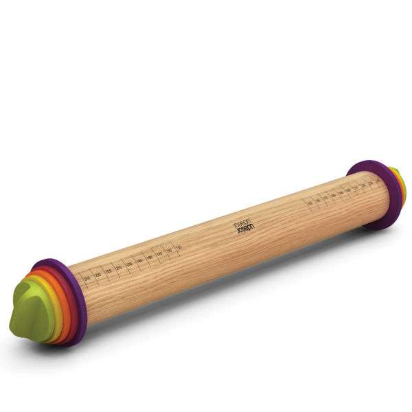 Joseph Joseph Adjustable Rolling Pin Plus - Multi Coloured: Image 01