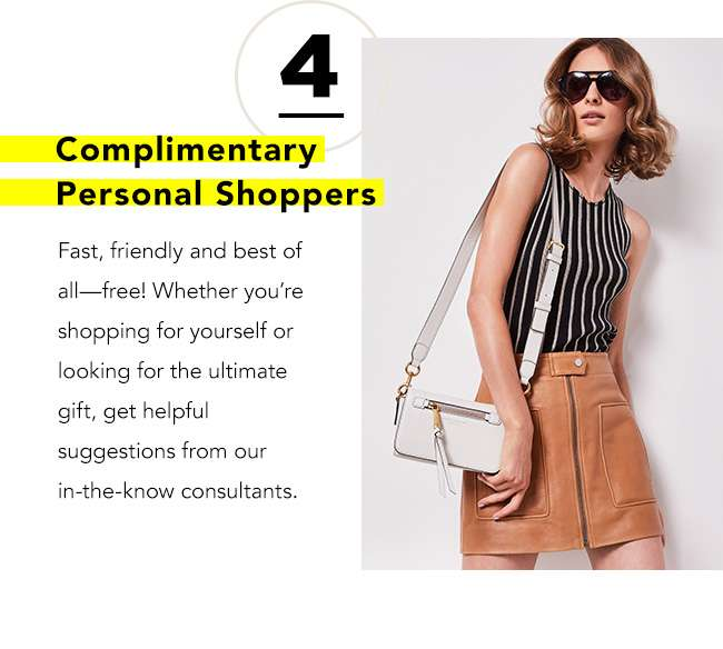 COMPLIMENTARY PERSONAL SHOPPERS