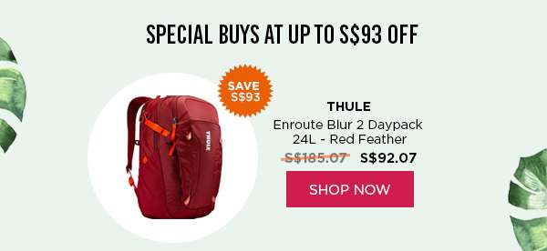 THULE Enroute Blur 2 Daypack 24L - Red Feather SHOP NOW
