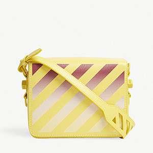 OFF-WHITE C/O VIRGIL ABLOH                                                          Gradient diagonal stripe leather shoulder bag
