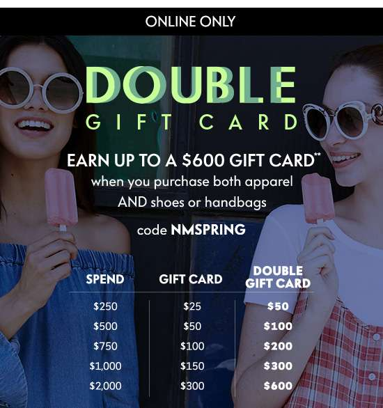 Double Gift Card