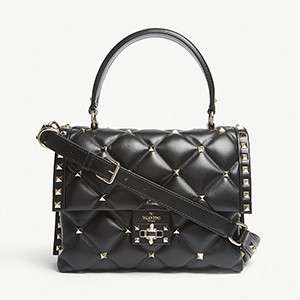 VALENTINO                                                          Candy Rockstud quilted leather shoulder