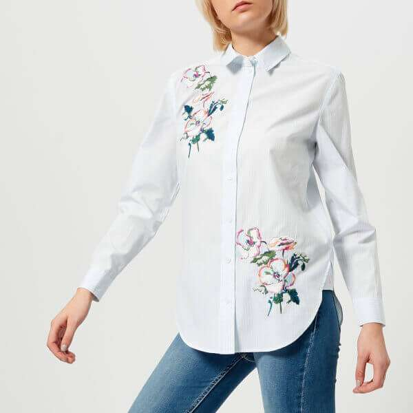 Laurel Embroidery Longline Shirt