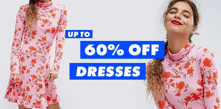 Up to 60% off dresses