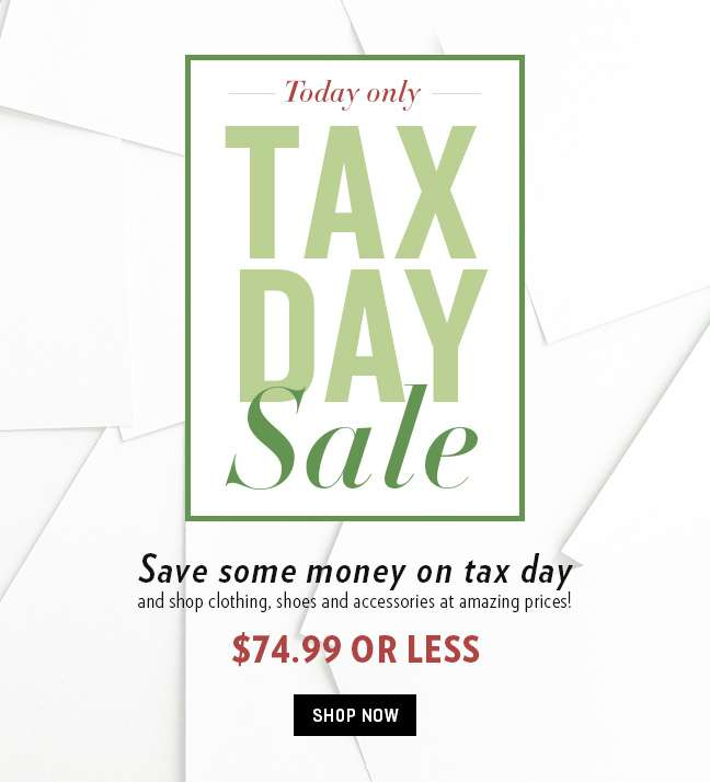 Tax Day Sale