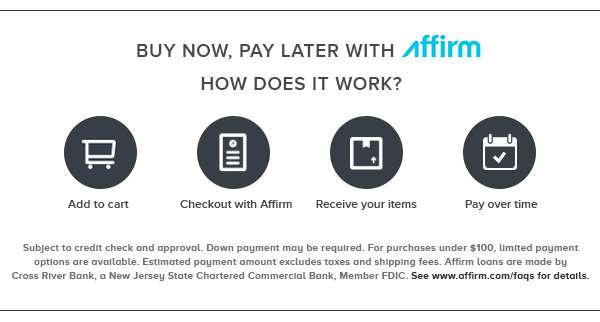 Buy now, pay latter with Affirm