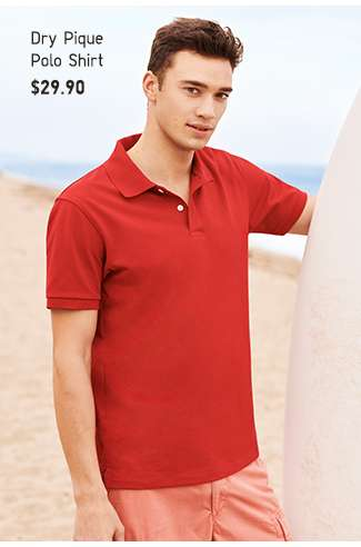 Shop Men's Summer specials. Dry pique Polo Shirt