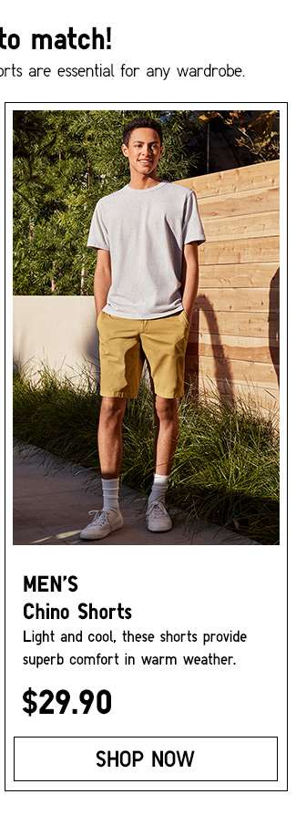 Shop Men's Chino Shorts.