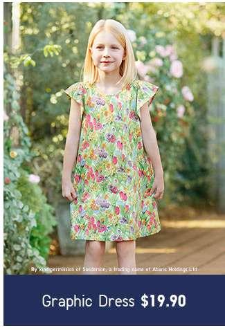Shop Girls' Studio Sanderson for Uniqlo Collection. Dress