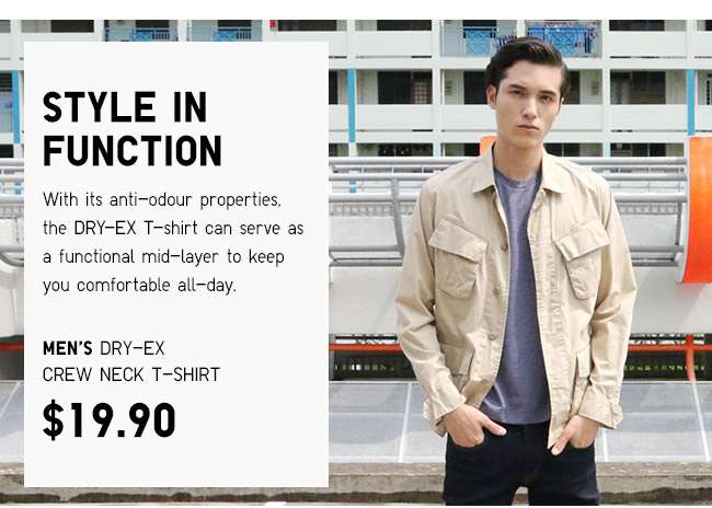Functional Fashion. Shop Men's DRY-EX T-shirts.