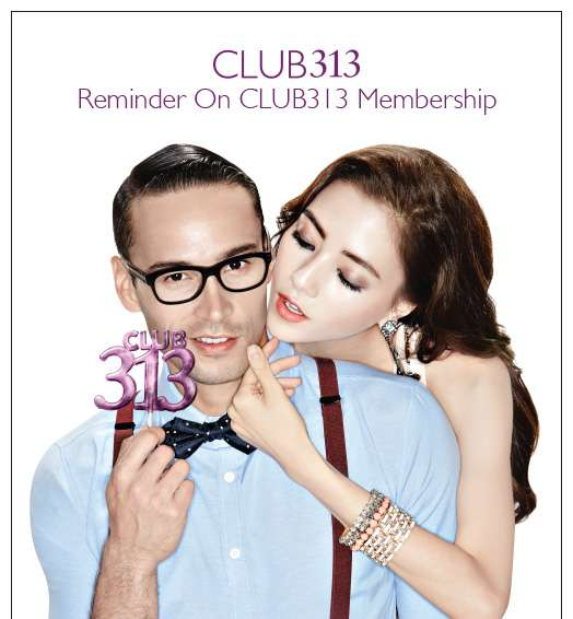 Reminder On CLUB313 Membership