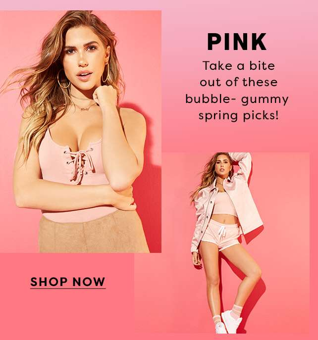 Pink - Take a bite out  of these bubble-gummy spring picks! - Shop Now