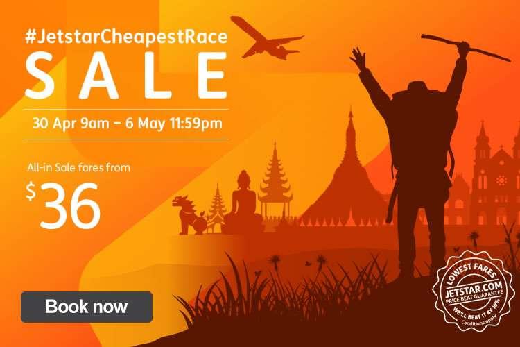 #JetstarCheapestRace Sale