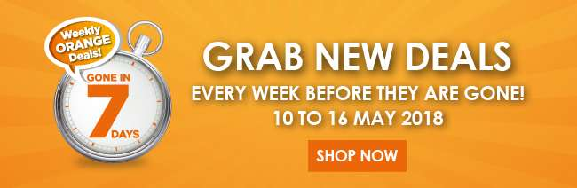Grab your Orange Deals from 03 to 09 May 2018!