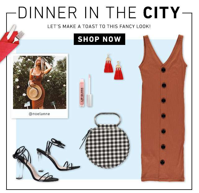 Dinner in the city - Let's make a toast to this fancy look! - Shop Now