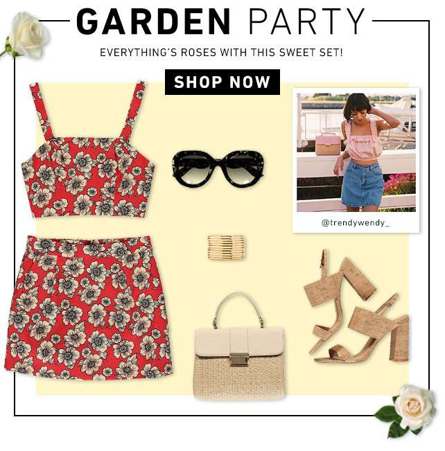 Garden Party - Everything's roses with this sweet set! - Shop Now