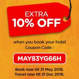 Extra 10% Off for Hotel