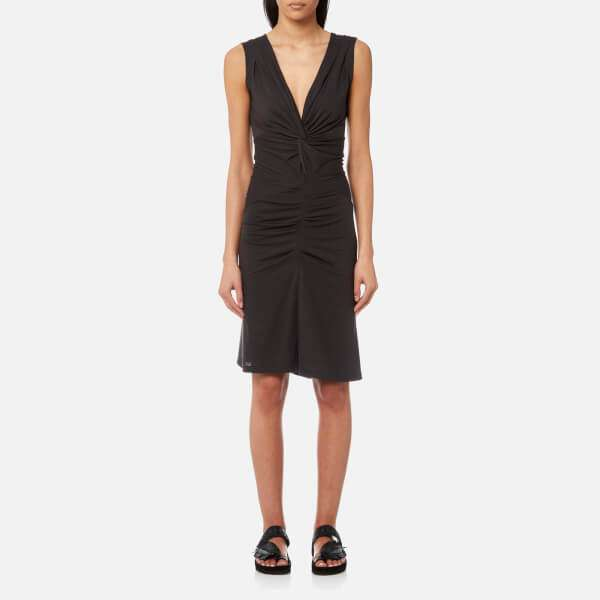 Isabel Marant Etoile Women's Rodwell Draped Jersey Dress - Faded Black