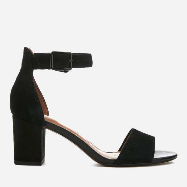 Clarks Women's Deva Mae Suede Blocked Heeled Sandals - Black