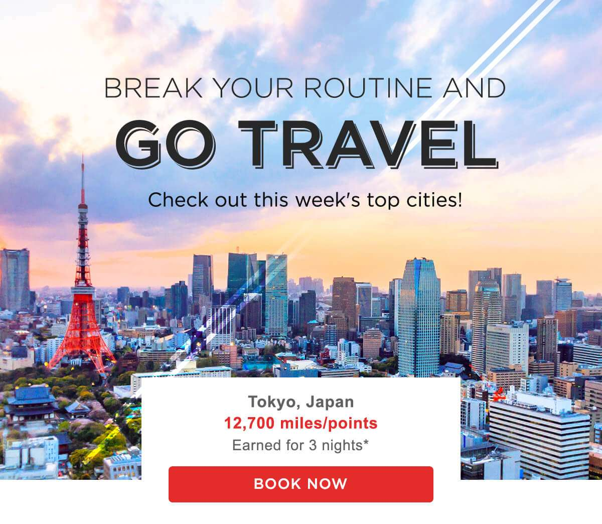 Break your routine and go travel! Check out this week's top cities!