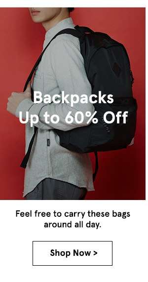 Backpacks up to 60% off. shop now