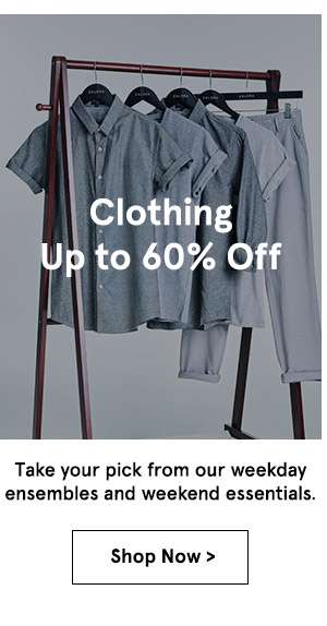 Clothing Up to 60% off. shop now.
