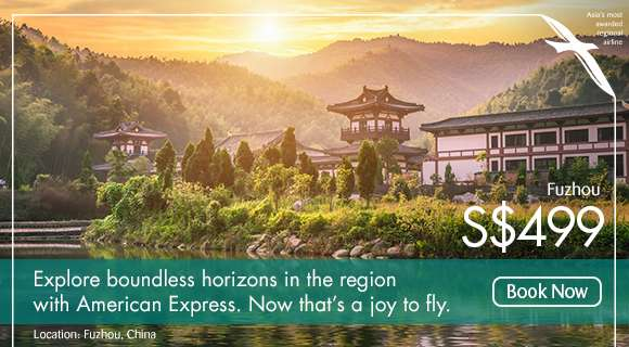 Explore boundless horizons in the region with American Express. Npw that's a joy to fly.