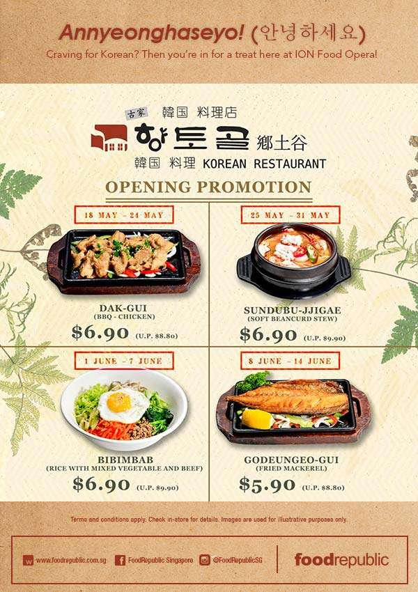 Craving for Korean? Then you're in for a treat here at ION Food Opera!