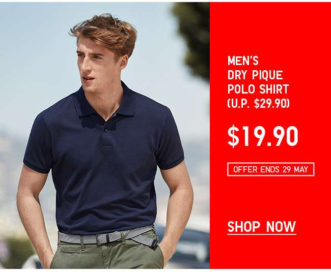 Shop Men's Dry Pique Polo Shirt