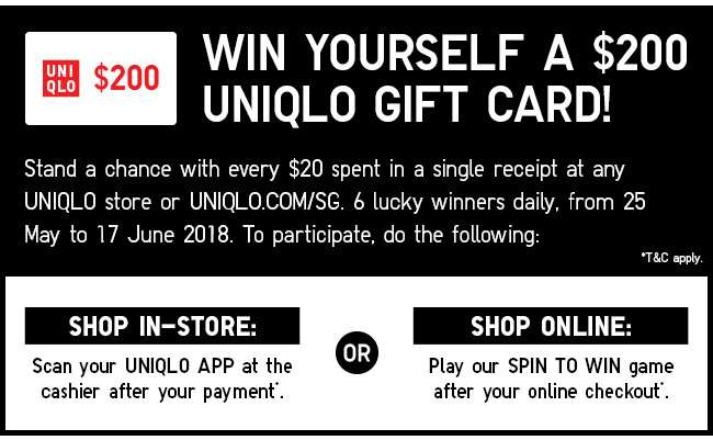 Win $200 UNIQLO Gift card!
