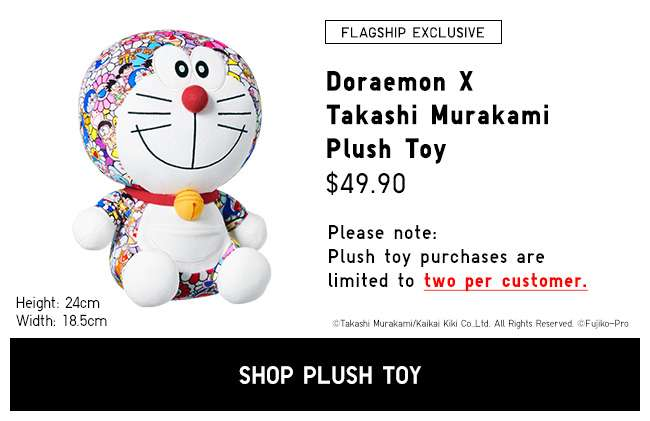 Shop the new Doraemon x Takashi Murakami Plush Tory