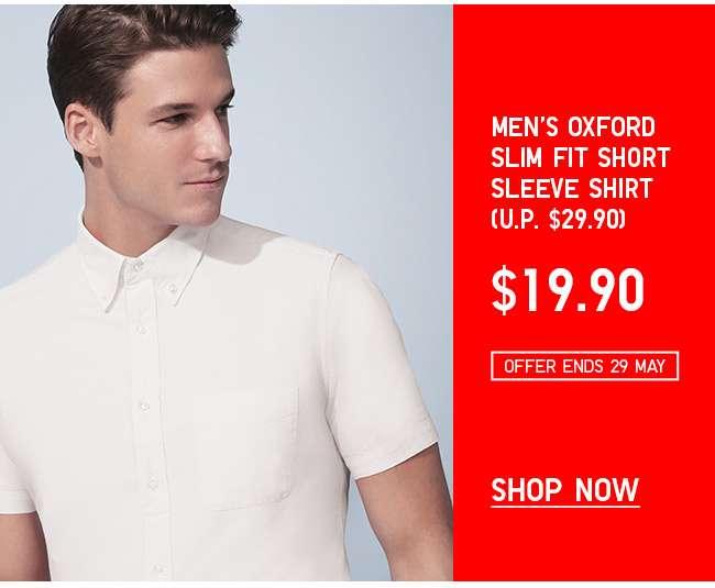 Shop Men's Oxford Slim Fit Short Sleeve Shirt