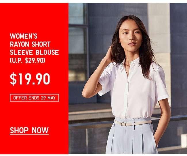 Shop Women's Rayon Short Sleeve Blouse