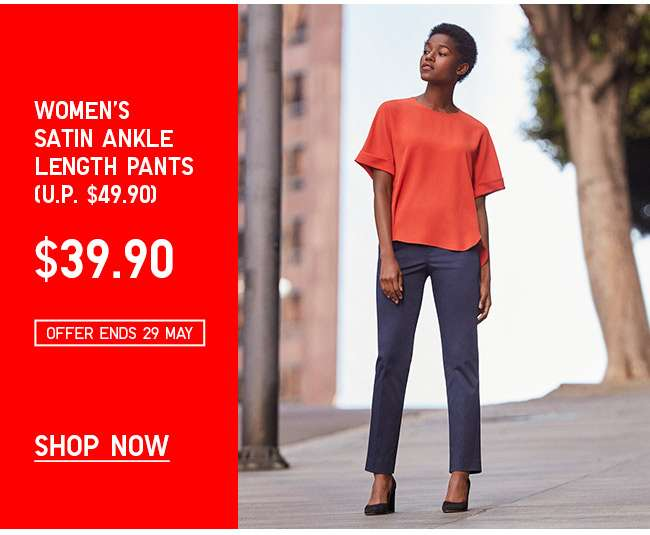 Shop Women's Satin Ankle Length Pants