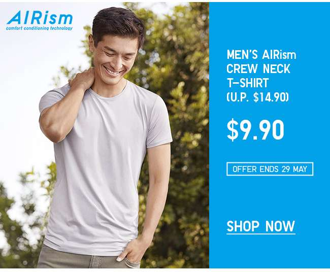 Shop Men's AIRism T-shirt