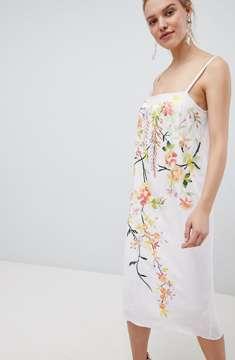 ASOS WHITE 100% Silk Raw Edge Cami Dress