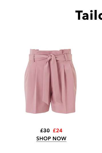 Dusty Pink Paperbag Shorts