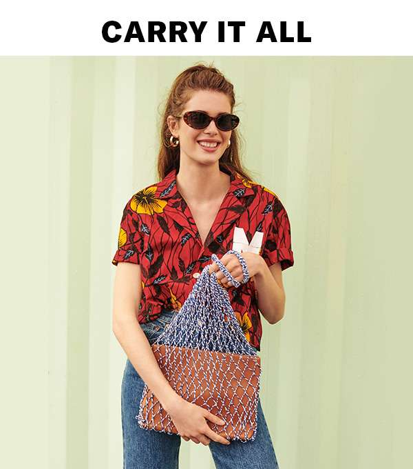Roomy totes for shopping runs, beach days, or anytime you need to bring, well, everything.
